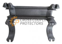 """3-1/2 inch All Cast Cross Coupling Protector designed to straddle Tenaris Blue coupling. To support and protect Flatpack Cables #6 and two off 0.25"""" capillary line (3)"""