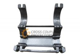 """4-1/2 inch Cross Coupling Cable Protector designed to straddle EUE coupling. To support and protect Flatpack Cables # 6 and 3/8"""" & 1/4"""" capillary line."""