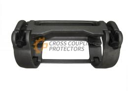 """4-1/2 inch All Cast Cross Coupling Protector designed to straddle Tenaris Blue coupling. To support and protect Flatpack Cables #2 & #4 and 0.375"""" & 0.25"""" capillary line (1)"""