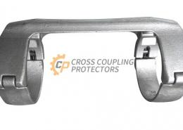 5-1/2 inch All Cast Cross Coupling Protector designed to straddle LTC coupling for Falt cable #4 (3)