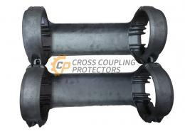 """5-1/2 inch All Cast Cross Coupling Protector designed to straddle TENARIS BLUE coupling. To support and protect Flatpack Cables #4 and 2 off 3/8"""" & 1/4"""" capillary line (2)"""