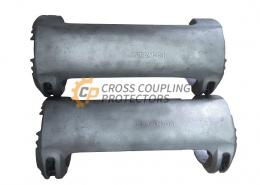 """5-1/2 inch All Cast Cross Coupling Protector designed to straddle TENARIS BLUE coupling. To support and protect Flatpack Cables #4 and 2 off 3/8"""" & 1/4"""" capillary line (3)"""